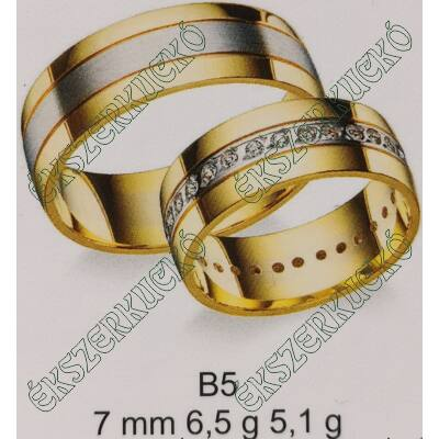Sárga-fehér arany karikagyűrűk