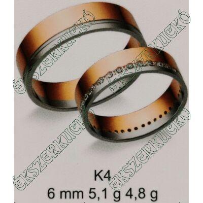 Vörös-fehér arany  karikagyűrűk