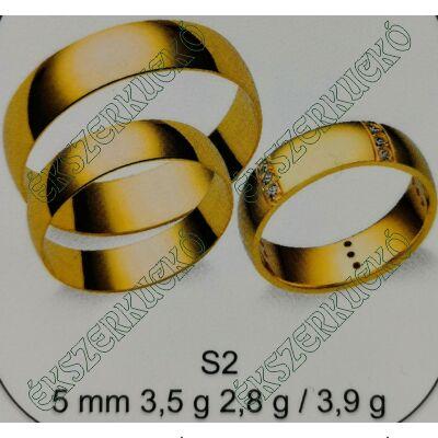 Sárga arany  karikagyűrűk