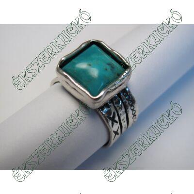 Ezüst türkiz köves gyűrű