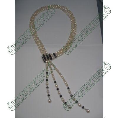 Édesvízi tenyésztett gyöngy nyakék