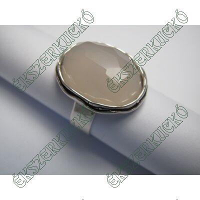 Ezüst rózsakvarc gyűrű
