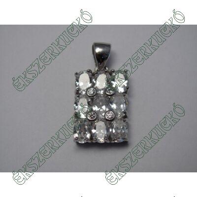 Ezüst medál cirkónia kövekkel