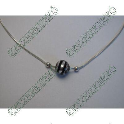 Ezüst nyaklánc Muránói üveg gyönggyel