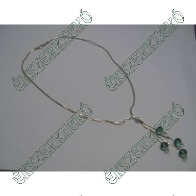 Ezüst nyaklánc swarovski kövekkel