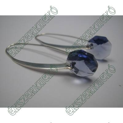 Ezüst swarovski fülbevaló