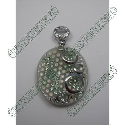 Ezüst swarovski medál