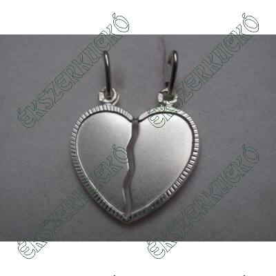 Ezüst széttörhető szív medál