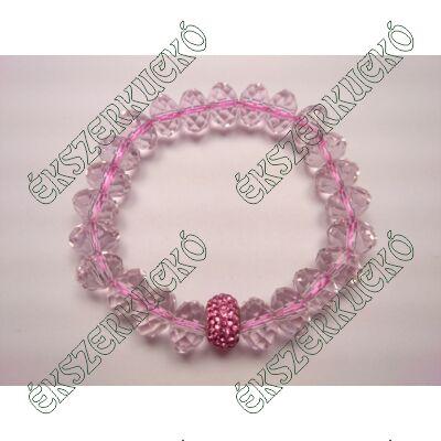 Swarovski kristály karkötő - rózsaszín