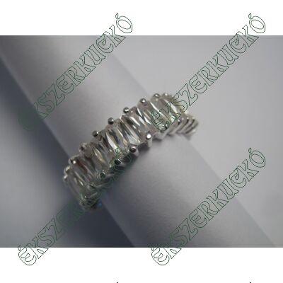 Ezüst cirkónia körbe köves gyűrű