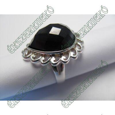 Ezüst ónix köves gyűrű