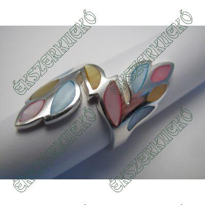 Ezüst gyöngyházas gyűrű