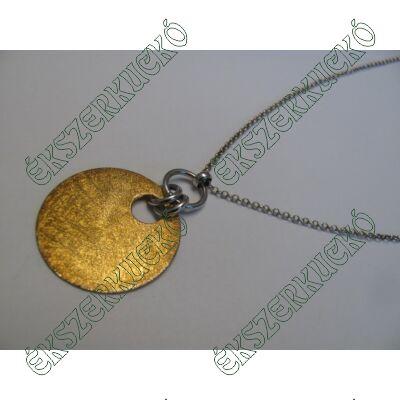 Ezüst nyaklánc, aranyozott ezüst medállal