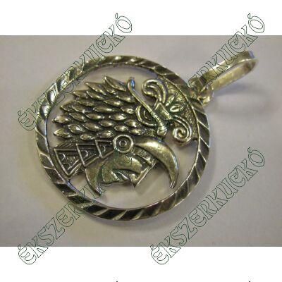 Ezüst antikolt indián medál