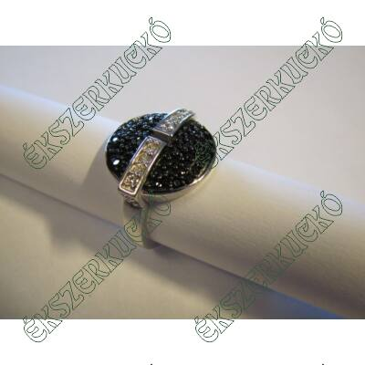 Ezüst swarovski köves gyűrű