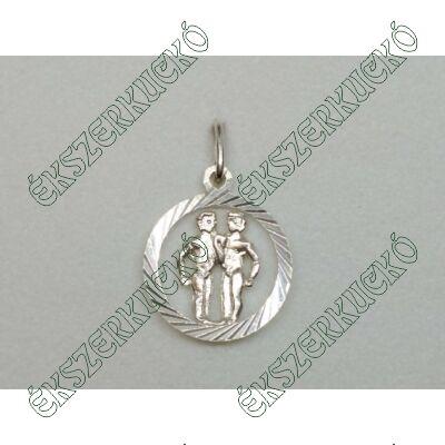Ezüst horoszkópos medál - ikrek
