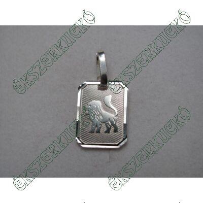 Ezüst horoszkópos oroszlán medál