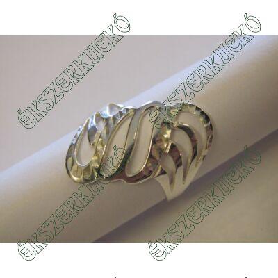 Ezüst vésett gyűrű