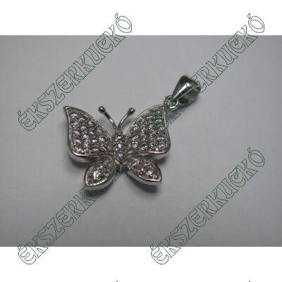 Ezüst köves pillangó medál