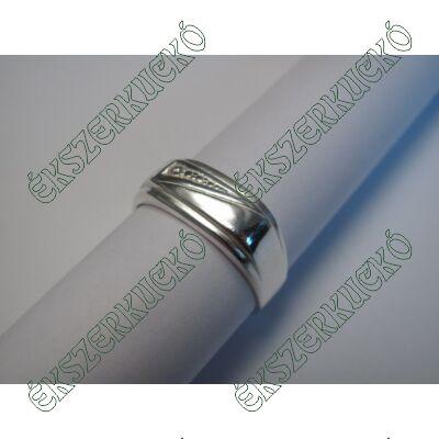 Ezüst cirkónia köves pecsét gyűrű