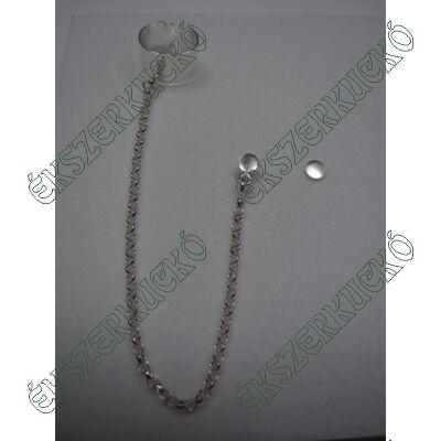 Ezüst fülgyűrű lánccal