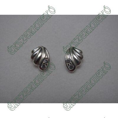Ezüst bedugós fülbevaló cirkónia kővel