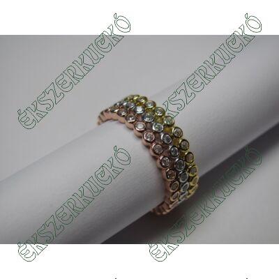 Ezüst cirkónia köves gyűrű