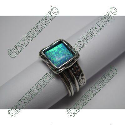 Ezüst opál köves gyűrű