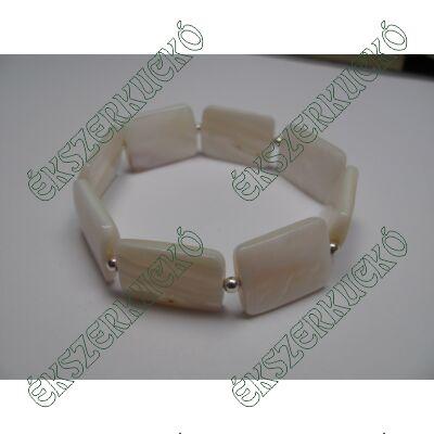 Gyöngyházas karkötő ezüsttel kombinálva