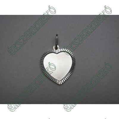Ezüst vésett szív medál