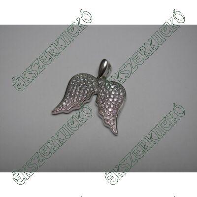 Ezüst cirkónia köves angyalszárny medál