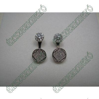 Ezüst fülbevaló cirkónia kövekkel