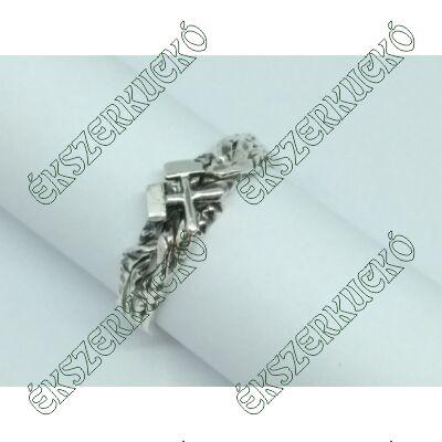 Ezüst antikolt bányász gyűrű