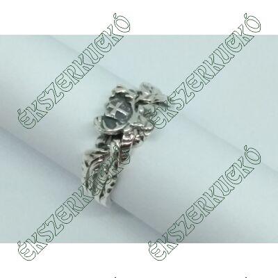 Ezüst antikolt vadász gyűrű