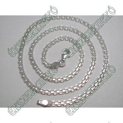 Ezüst nyaklánc névbetétes nyakékhez