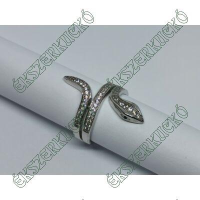 Ezüst cirkónia köves kígyó gyűrű