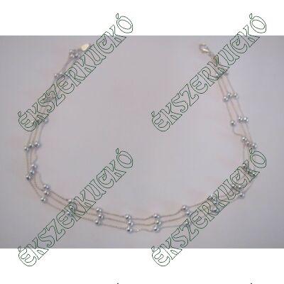 Ezüst három soros nyaklánc