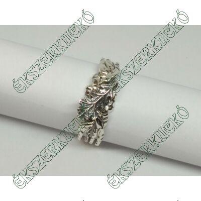 Ezüst antikolt ördöggyűrű tölgyfa levéllel