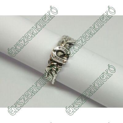 Ezüst antikolt ördöggyűrű patkóval