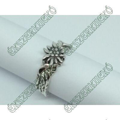 Ezüst antikolt havasi gyopár gyűrű