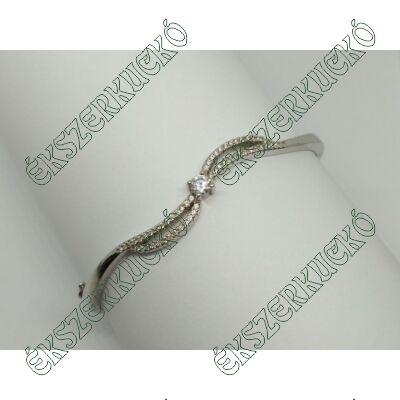 Ezüst cirkónia köves reif karkötő