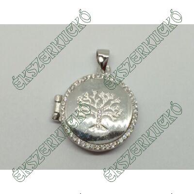 Ezüst cirkónia köves nyitható életfa medál
