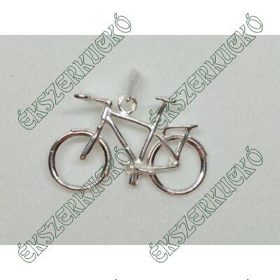 Ezüst kerékpár medál