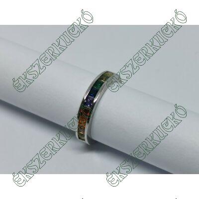 Ezüst színes köves gyűrű
