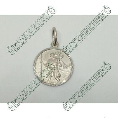 Ezüst Szent Kristóf - Utazók Védőszentje medál
