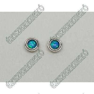 Ezüst fülbevaló opál kővel