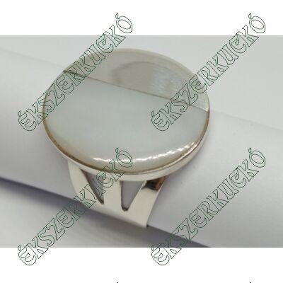 Ezüst gyűrű gyöngyházzal kombinálva