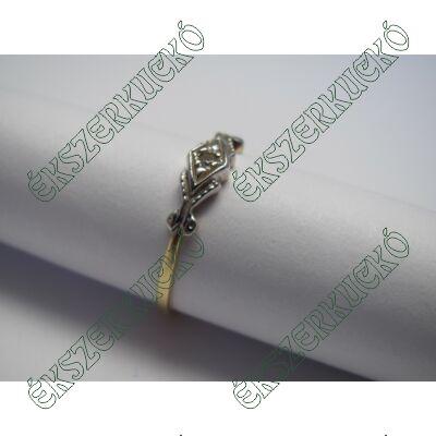 Sárga-fehér aranygyűrű cirkónia kővel