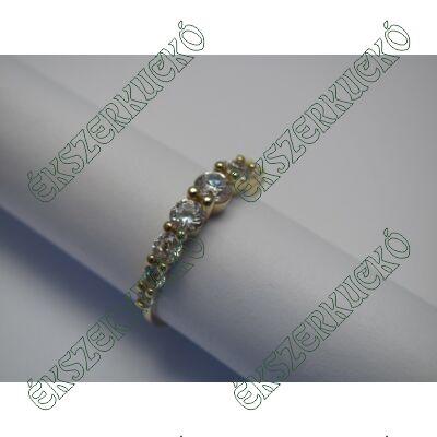 Sárgaarany gyűrű, cirkónia kövekkel