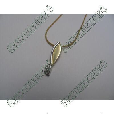 Sárga-fehér köves medál